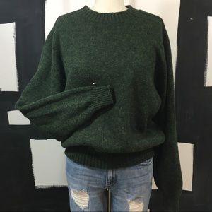 Vintage American Eagle Pine Green Wool sweater.